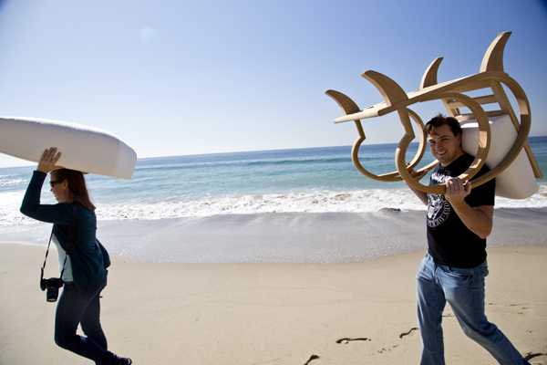 It was all smiles all day because... seriously... who wouldn't want to work in Malibu all day?