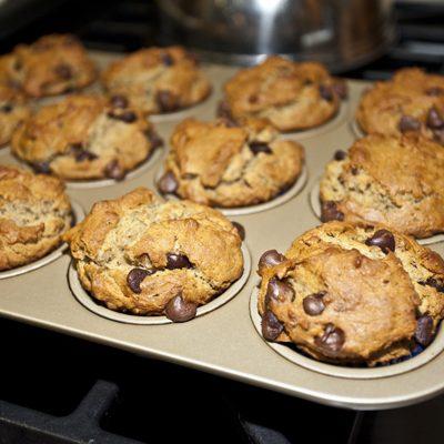Gluten-Free Peanut Butter Chocolate Chip Muffins