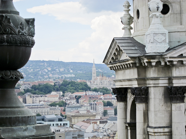 Another view of Budapest from the dome.