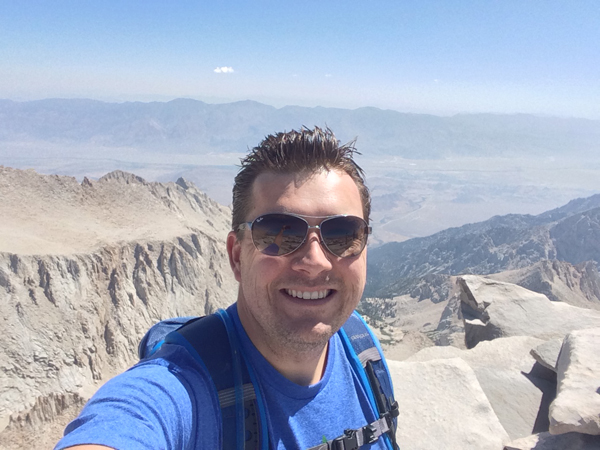 David at the top of California
