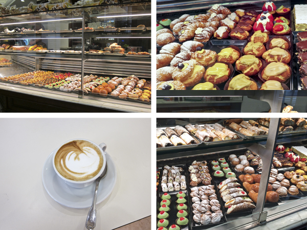 The pastries and cappuccinos were delicious!