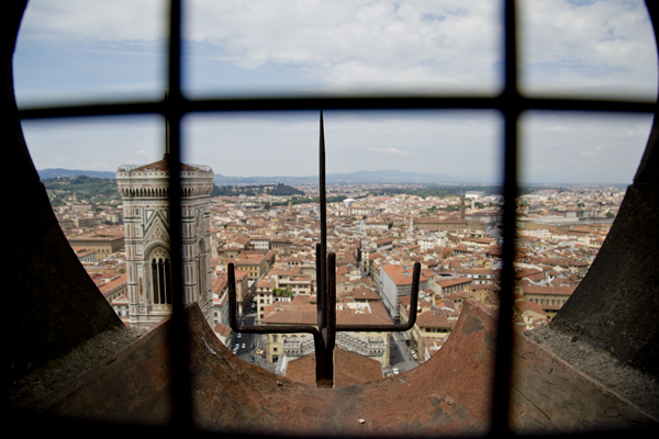 """View from one of the """"windows"""" on the way to the top."""
