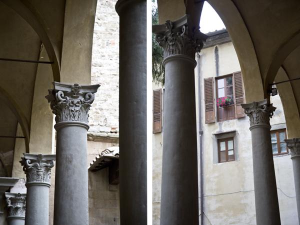 Inside the monastery courtyard.