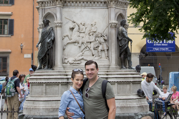 Me and David in Piazza San Marco
