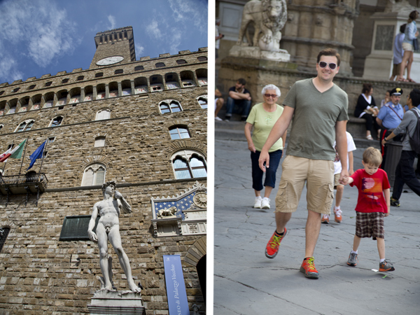 The statue of David and my David