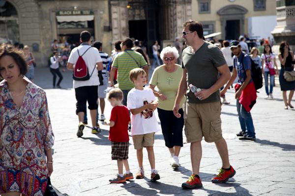 Walking through the Piazza