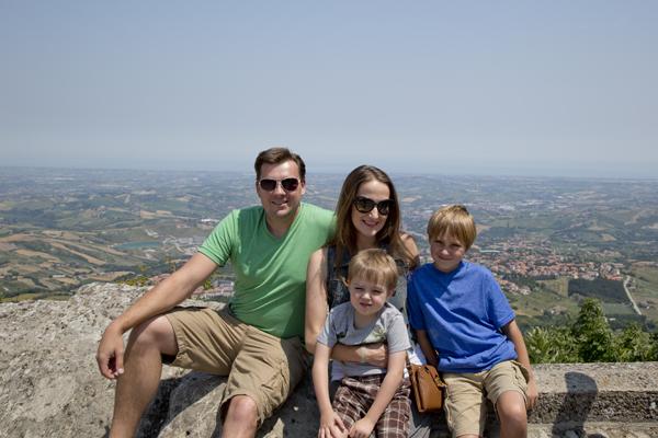 With my boys in San Marino.