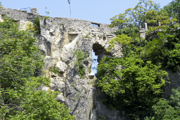 The side of the fortress.