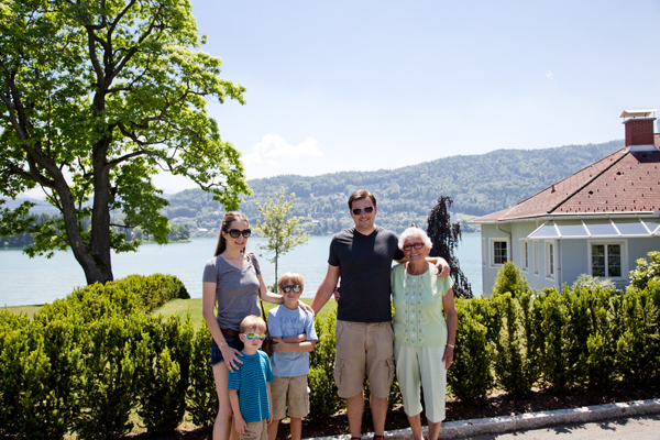 Posing in front of Wörthersee - the pictures don't do it justice
