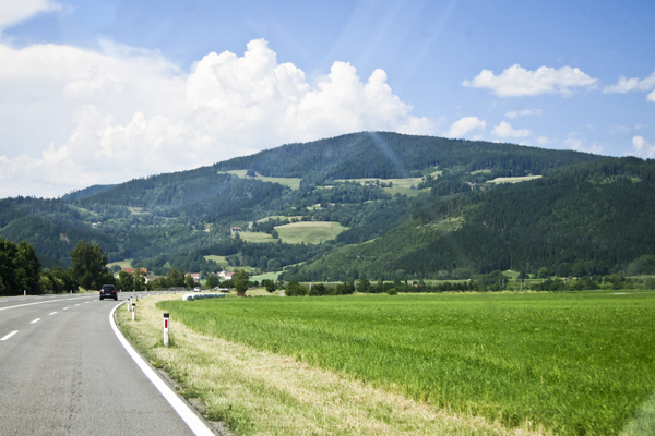 On the road in Carinthia