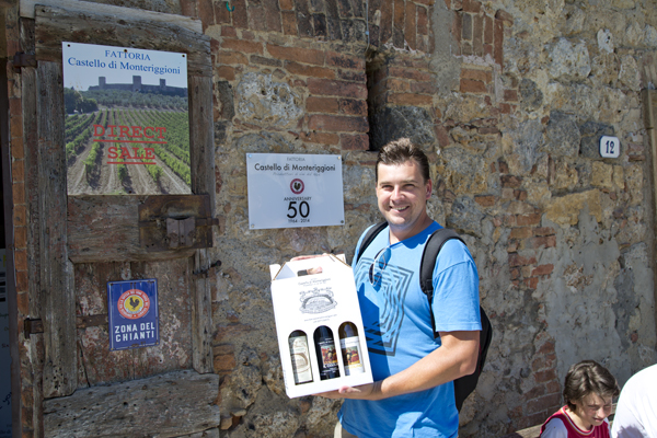 David showing off the new additions to his wine collection