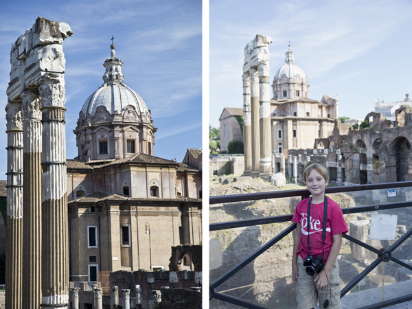 The Roman Forum and Santi Luca e Martina Church
