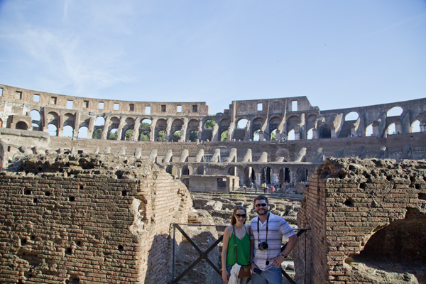 Mat was a big kid in the Colosseum (so was David)!