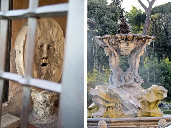 Bocca della Verità and a closer look at the Fountain of Tritons