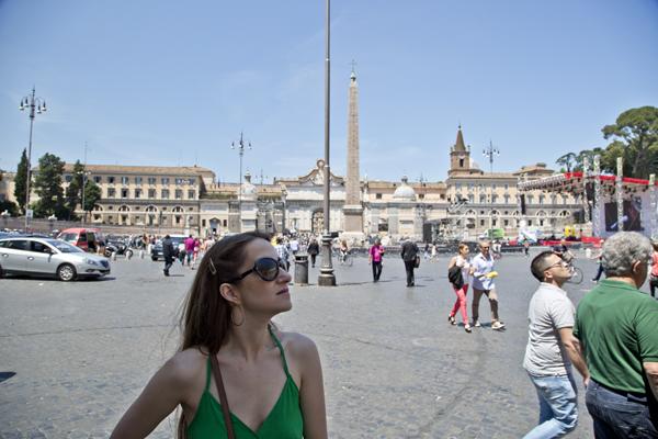 Me standing in the Piazza del Popolo