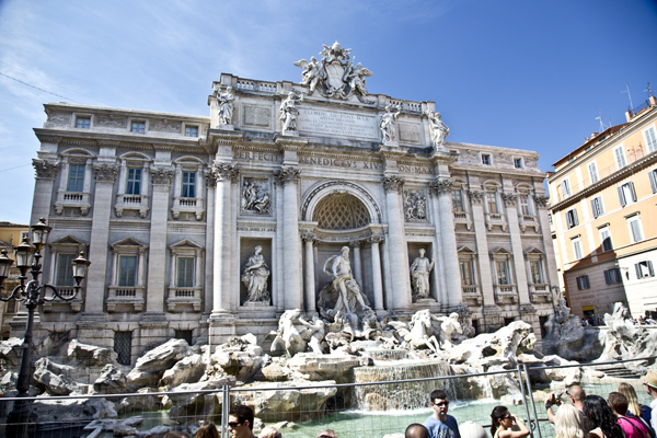 The famous Trevi Fountain! It is so beautiful!