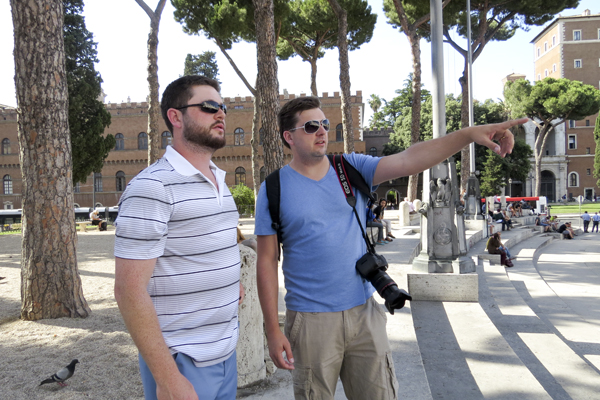 David and Mat at the base of Capitoline Hill