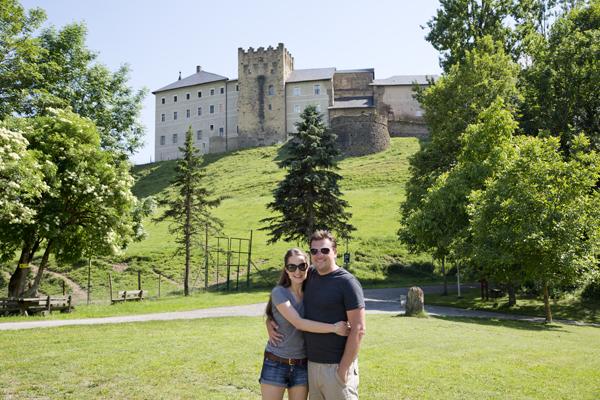 Posing in front of Schloss Straßburg