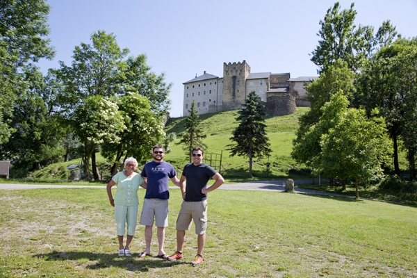 Again in front of the castle