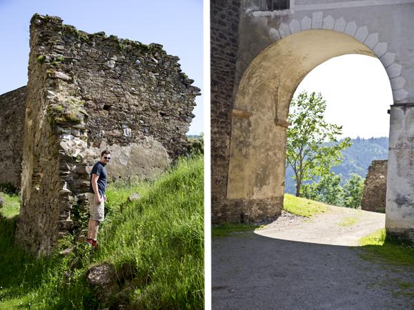 David scaling the walls