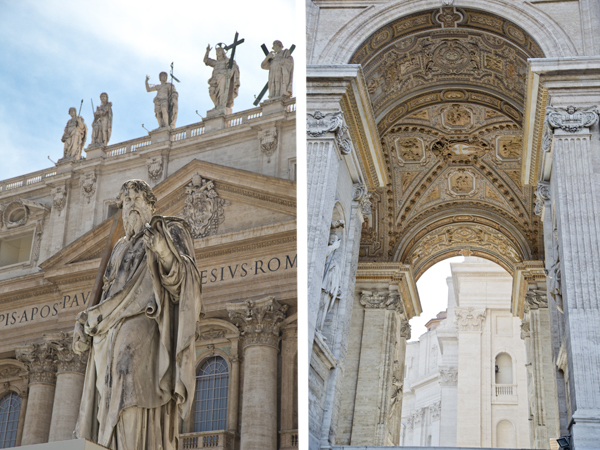 Statue of Saint Paul and one of the gorgeous archways