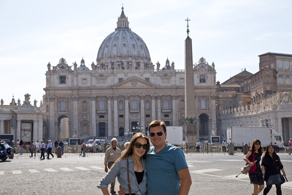 One final shot of me and David in front of Saint Peter's