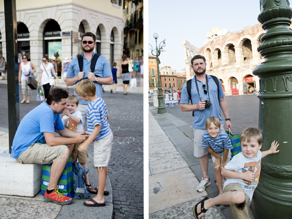 The boys in Piazza Bra