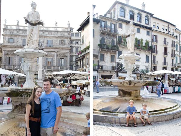 Posing with the Madonna Verona