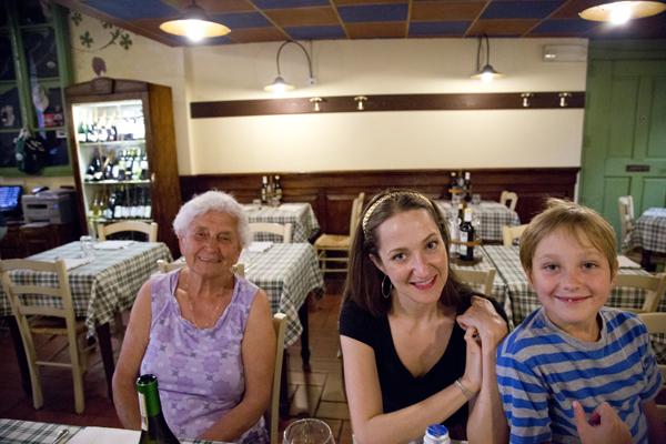 Last dinner in Italy