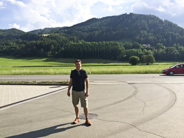 David at a random beautiful Austrian roadside gas station.