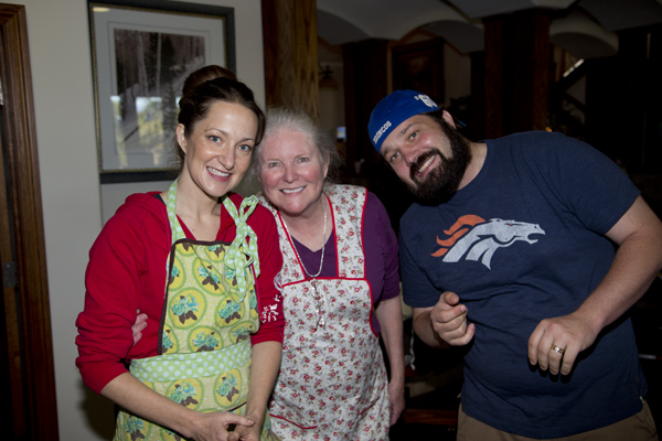 Posing with first time sausage makers, Debby and BJ