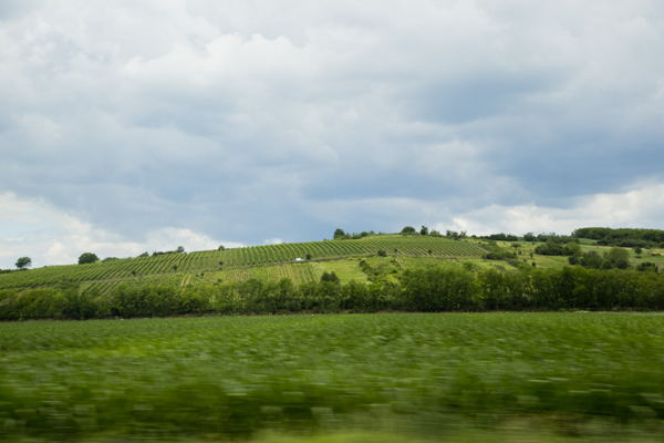This is the view when driving into Dédi's village. Isn't it stunning?