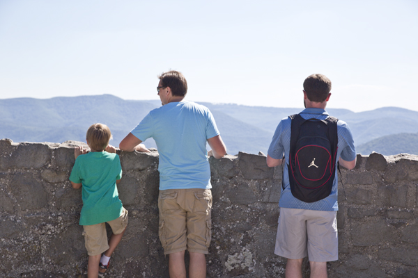 The guys taking in the view