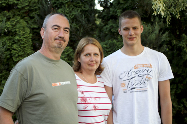Our hosts Péter and Csilla with their oldest, Gergő