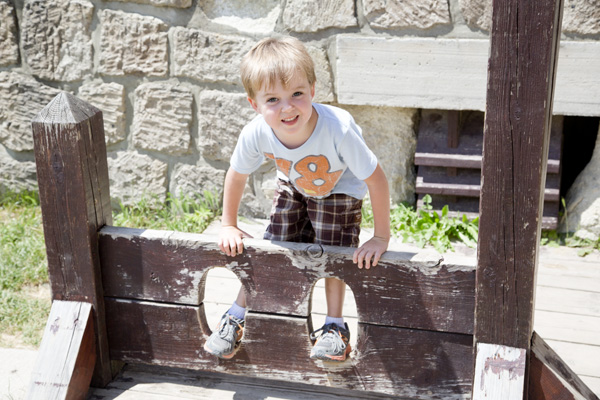 Getting locked up in the stocks.