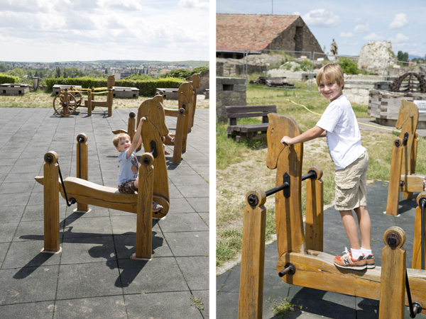 Back above ground in the play area. How cool are those horses and where can I get one?