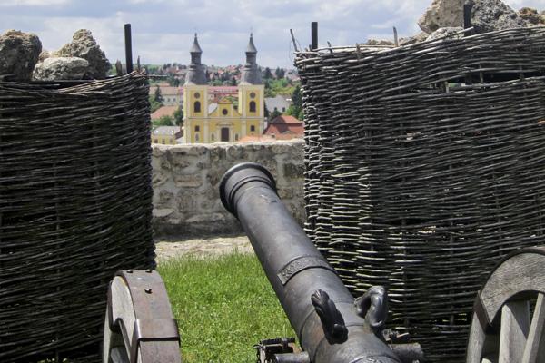 Interior castle cannon
