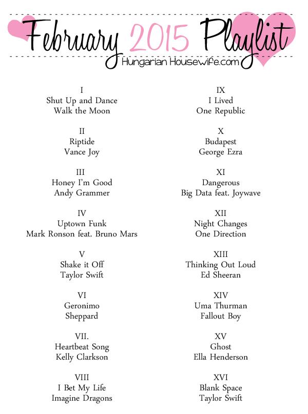 Music: February Playlist