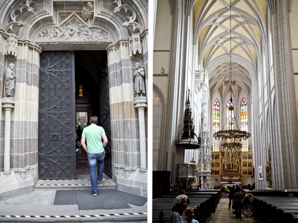 Entering the cathedral