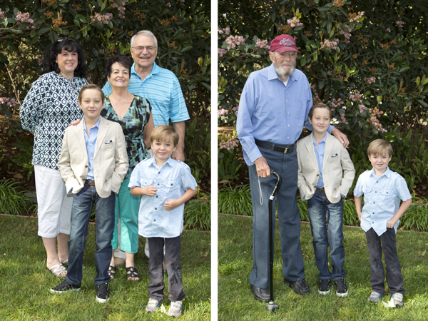 The boys with our family from Seattle and with Papa