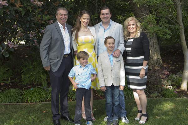 Posing with David's parents