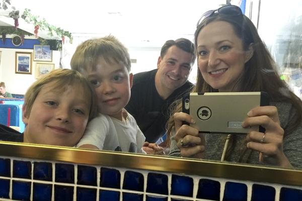 Family mirror selfie