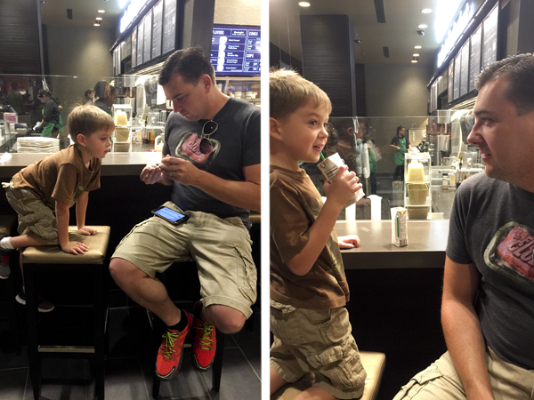 These pictures from Starbucks are some of my favorite of the weekend.