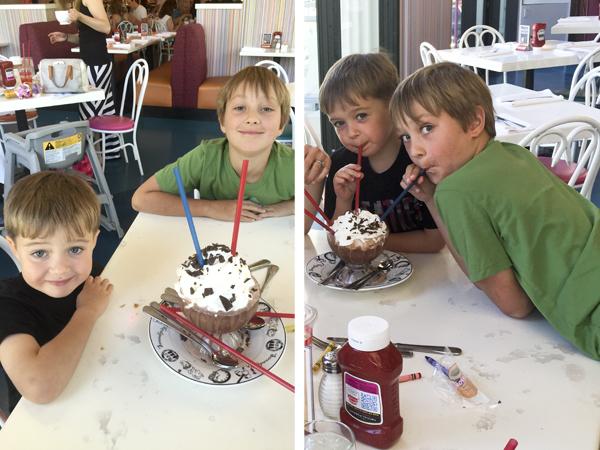 Enjoying their special treat