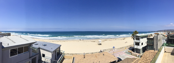 The panoramic view from our rooftop terrace