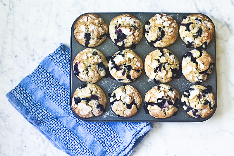 Almost Famous Blueberry Muffins 001