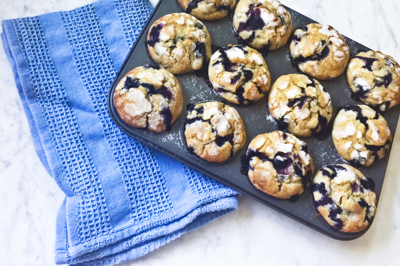 Almost Famous Blueberry Muffins 003
