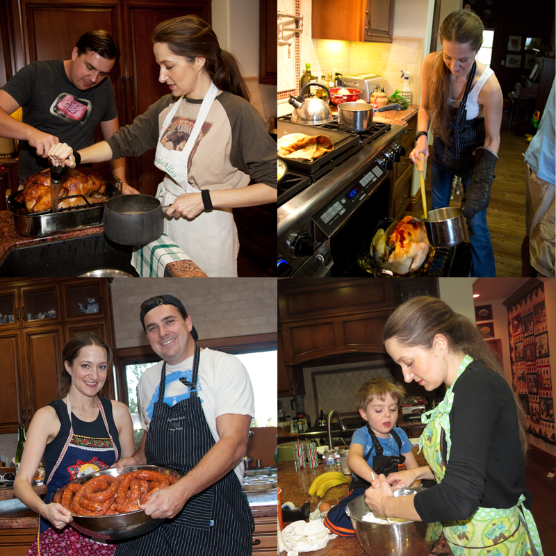 Family cooking pictures
