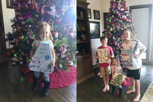 Kids holding advent calendars